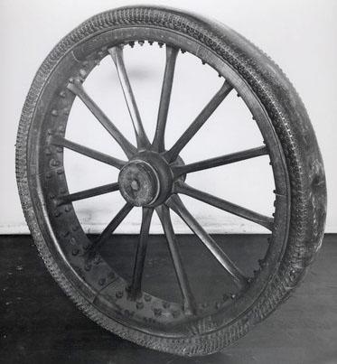Replica del Neumático inchable de Thomson, perteneciente al Museo de Ciencias de Londres.