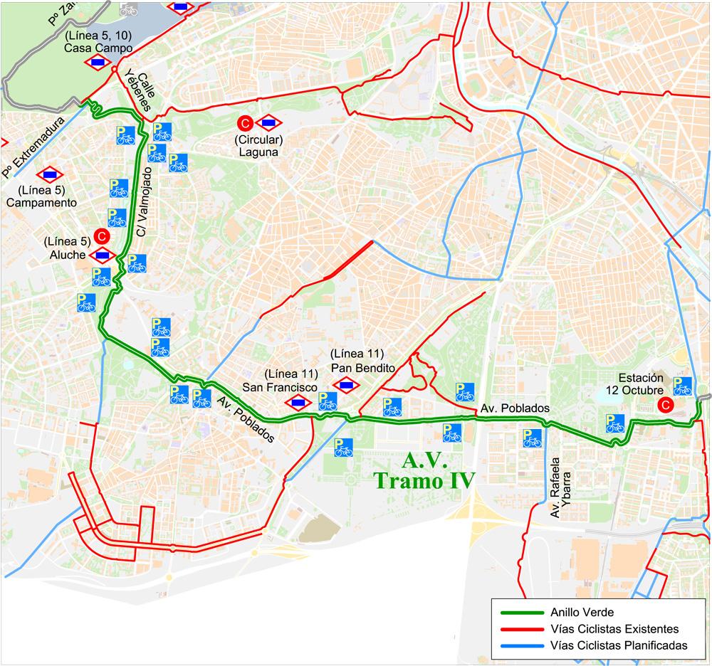 La oficina de la bici del ayuntamiento de madrid - Anillo verde ciclista madrid mapa ...