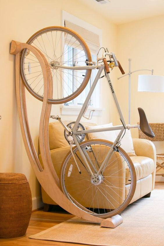 ideas originales para guardar tu bici en casa