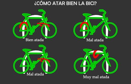 Formas de atar la bici