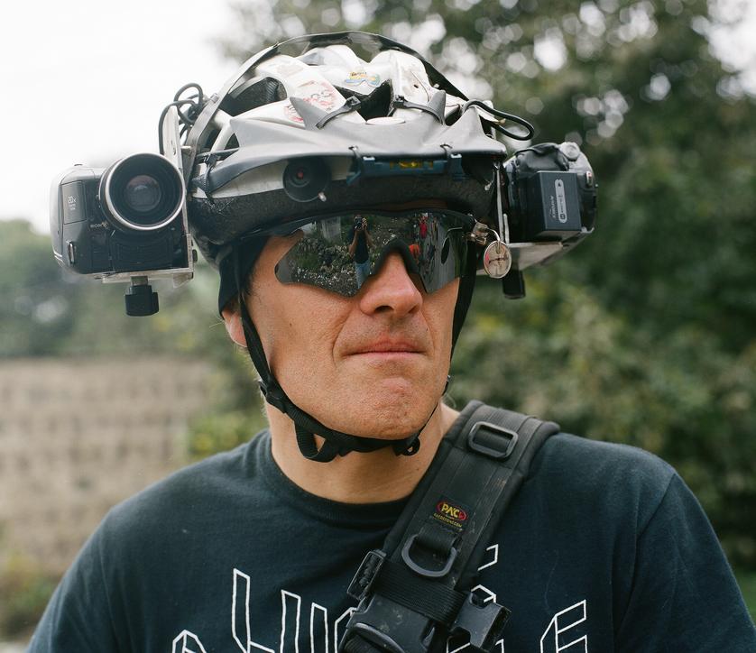 Lucas Brunelle con su casco-cámara