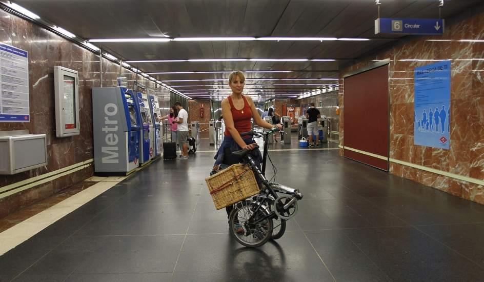 Bicihome llevar bicicleta metro Madrid